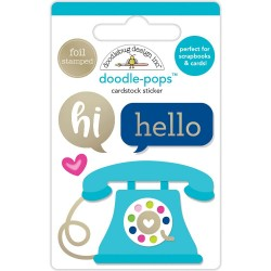 Hello There Doodle-Pops 3D Sticker Doodlebug