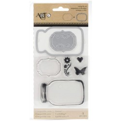 Mason Jars Stamp & Die Set ART-C