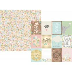 """3""""x4"""" Elements Oh Baby! Double-Sided Cardstock 12""""x12"""" Simple Stories"""