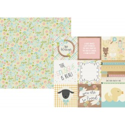 """4""""x4"""" Elements Oh Baby! Double-Sided Cardstock 12""""x12"""" Simple Stories"""