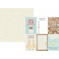 """4""""x6"""" Vertical Elements Oh Baby! Double-Sided Cardstock 12""""x12"""" Simple Stories"""
