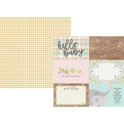 """4""""x6"""" Horizontal Elements Oh Baby! Double-Sided Cardstock 12""""x12"""" Simple Stories"""