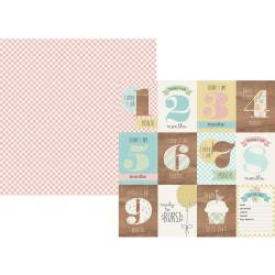 """Baby Pump You Oh Baby! Double-Sided Cardstock 12""""x12"""" Simple Stories"""