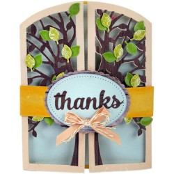 Tree Gatefold Card Thinlits Dies Sizzix