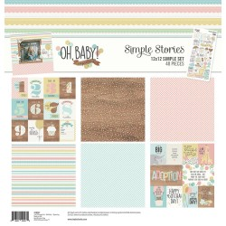 """Oh Baby! Simple Set 12""""x12"""" Simple Stories"""