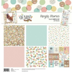 """Oh Baby! Adoption Simple Set 12""""x12"""" Simple Stories"""
