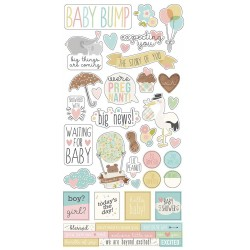 """Oh Baby! Expecting Cardstock Stickers 6""""x12"""" Simple Stories"""