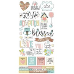 """Oh Baby! Adoption Cardstock Stickers 6""""x12"""" Simple Stories"""
