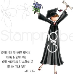 Grace The Graduate Uptown Girls Rubber Stamps Stamping Bella