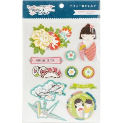 Paper Crane Layered 3D Stickers Die Cuts Photoplay