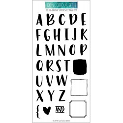 "Bold & Brushy Uppercase Clear Stamp Set 4""x6"" Concord & 9th"