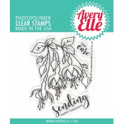"Fuchsia Clear Stamp Set 4""x3"" Avery Elle"