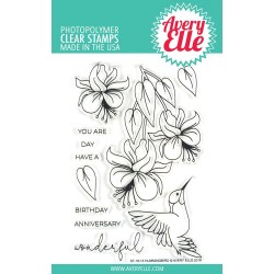 "Hummingbird Clear Stamp Set 4""x6"" Avery Elle"