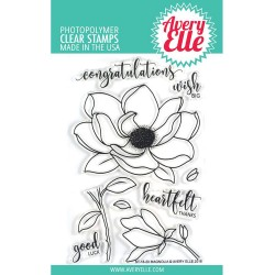 "Magnolia Clear Stamp Set 4""x6"" Avery Elle"