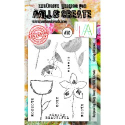 Quirky Blossoms Stamp Set 70 Timbri AALL & CREATE