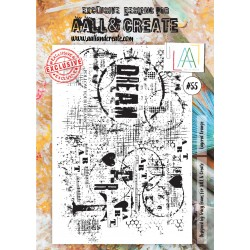 Layered Grunge Stamp Set 55 Timbri AALL & CREATE