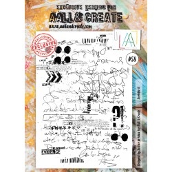 Vintage Graffiti Stamp Set 58 Timbri AALL & CREATE