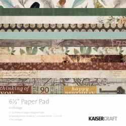 "Anthology Paper Pad 6,5""x6,5"" Kaisercraft"
