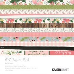 "Full Bloom Paper Pad 6,5""x6,5"" Kaisercraft"