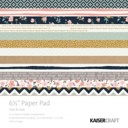 "Hide & Seek Paper Pad 6,5""x6,5"" Kaisercraft"