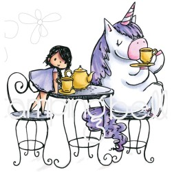 Rosie & Bernie Have A Tea Party Rubber Cling Stamps Stamping Bella