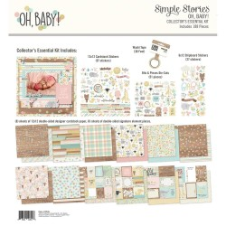 """Oh Baby! Collector's Essential Collection Kit 12""""x12"""" Simple Stories"""
