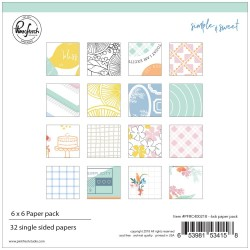 "Simple & Sweet Single-Sided Paper Pack 6""x6"" Pinkfresh Studio"