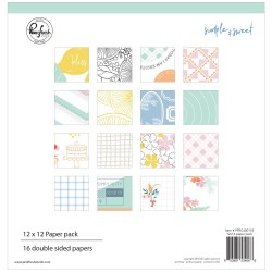 "Simple & Sweet Double-Sided Paper Pack 12""x12"" Pinkfresh Studio"