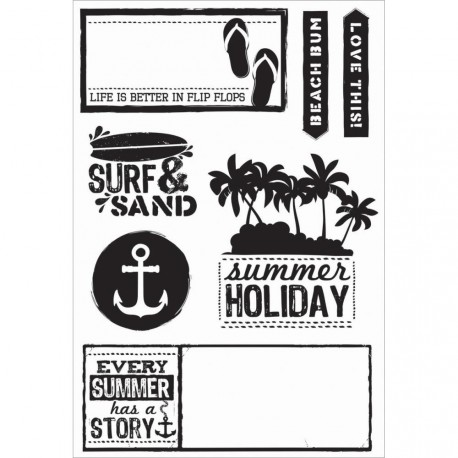 "Sandy Toes Clear stamps 4""x6"" Kaisercraft"