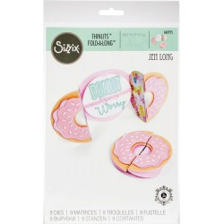 Donut Fold-A-Long Card Thinlits Dies Sizzix