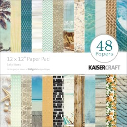"Salty Kisses Paper PAd 12""x12"" Kaisercraft"