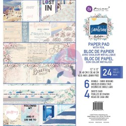 "Santorini Paper Pad 12""x12"" Prima Marketing"