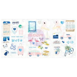 Santorini Chipboard Stickers Prima Marketing