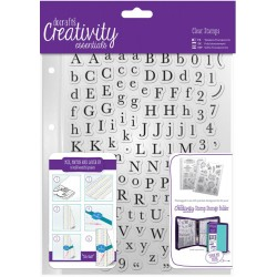 Alphas Trad A5 Clear Stamp Set 129 Pkg Creativity Essentials Docrafts