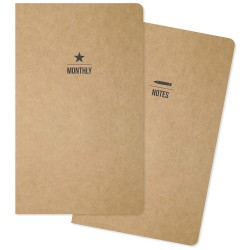 "One Monthly/One Lined Carpe Diem Traveler's Notebook Inserts 5""X8.25"" 2/Pkg"