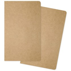 "One Blank/One Grid Carpe Diem Traveler's Notebook Inserts 5""X8.25"" 2/Pkg"