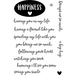 "Happiness 4""x6"" Clear Stamps Neat & Tangled"