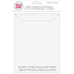 "Large Stamp & Die Storage Pockets 5 1/2""x7 3/8"" Avery Elle"