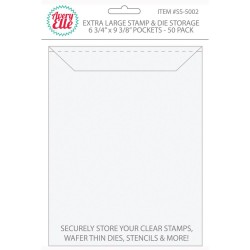 "Extra Large Stamp & Die Storage Pockets 6 3/4""x9 3/8"" Avery Elle"