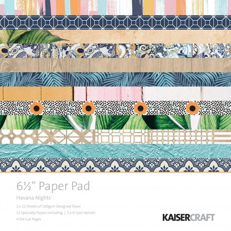 "Havana Nights Paper Pad 6,5""x6,5"" Kaisercraft"