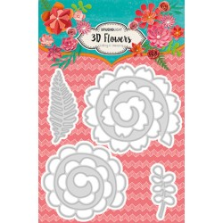 3D Flowers Dies n. 93 Studio Light Cutting & Embossing Die