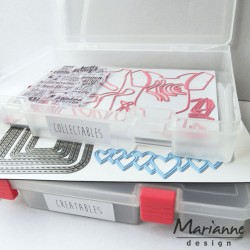 Storage Box + 3 Magnetic Sheets + 1 Stamp Sheet Marianne Design
