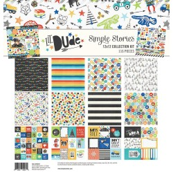"Lil' Dude Collection Kit 12""x12"" Simple Stories"