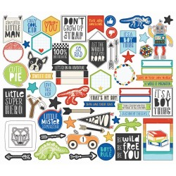Lil' Dude Ephemera Bits & Pieces Cardstock Die-Cuts 55 pcs Simple Stories