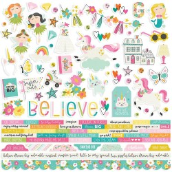 "Dream Big Combo Cardstock Stickers 12""x12"" Simple Stories"