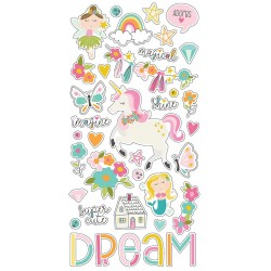 "Dream Big Chipboard Stickers 6""x12"" Simple Stories"