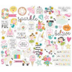 Dream Big Ephemera Bits & Pieces Cardstock Die-Cuts 55 pcs Simple Stories