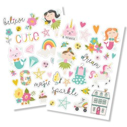 "Dream Big Puffy Stickers 4""x6"" Simple Stories"
