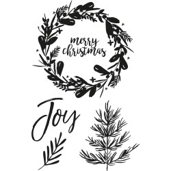 "Peace & Joy Clear Stamp Set 4""x6"" Kaisercraft"