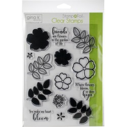 Where Flowers Bloom Clear Stamps Gina K. Designs